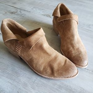 Dolce Vita | Tan Suede Pointed Toe Ankle Booties